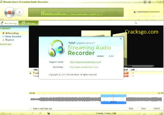Wondershare Streaming Audio Recorder